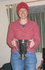 Catherine Hughes with the W35L Trophy